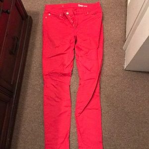 Red GAP Jeans 27r